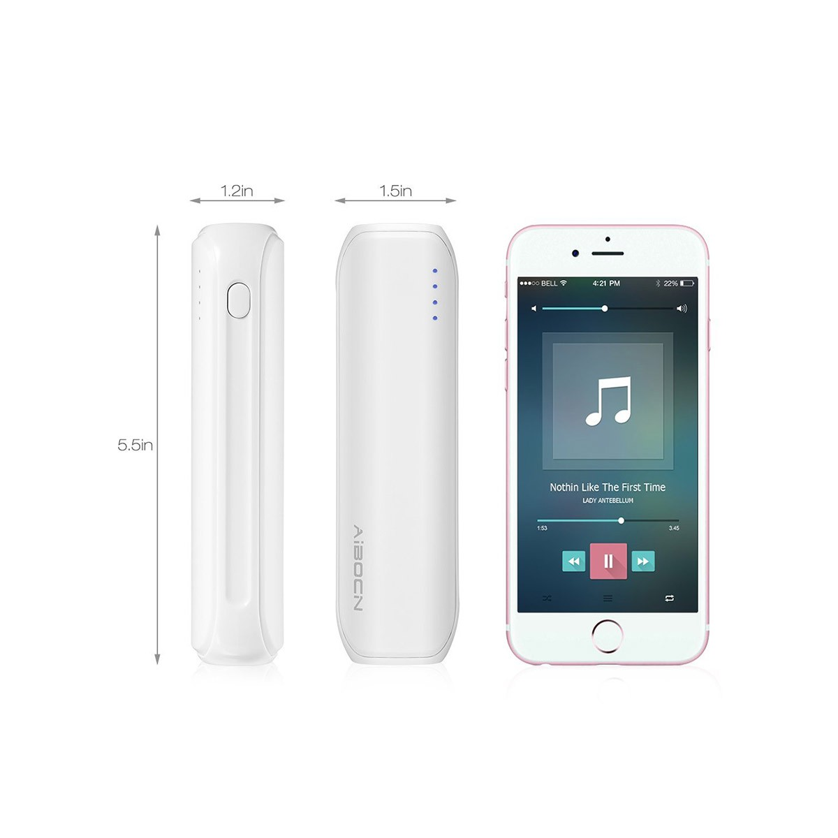 Portable Charger 8000mAh 2.1A Output Power Bank