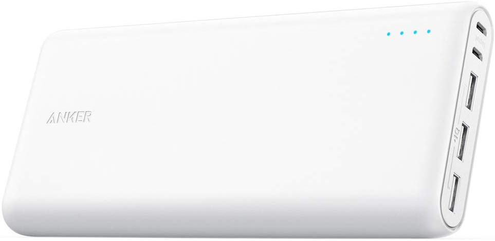 Anker PowerCore 26800mAh Powerbank. Dual Input Port and Double-Speed Recharging, 3 USB Ports
