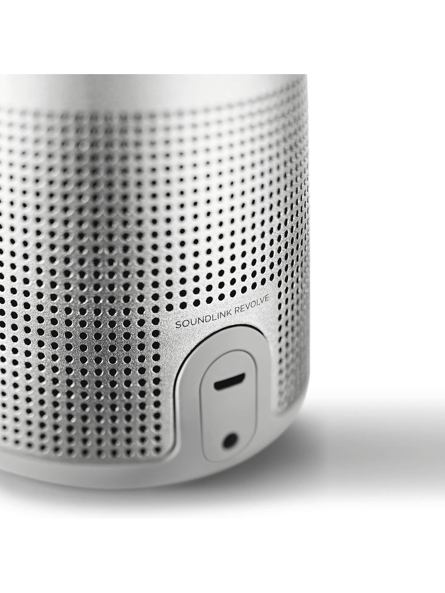 Bose® SoundLink® Revolve Water-resistant Portable Bluetooth Speaker with Built-in Speakerphone, Lux Grey