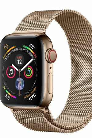 Apple Watch Series 5 (GPS + Cellular, 44mm) - Gold Stainless Steel Case with Gold Milanese Loop