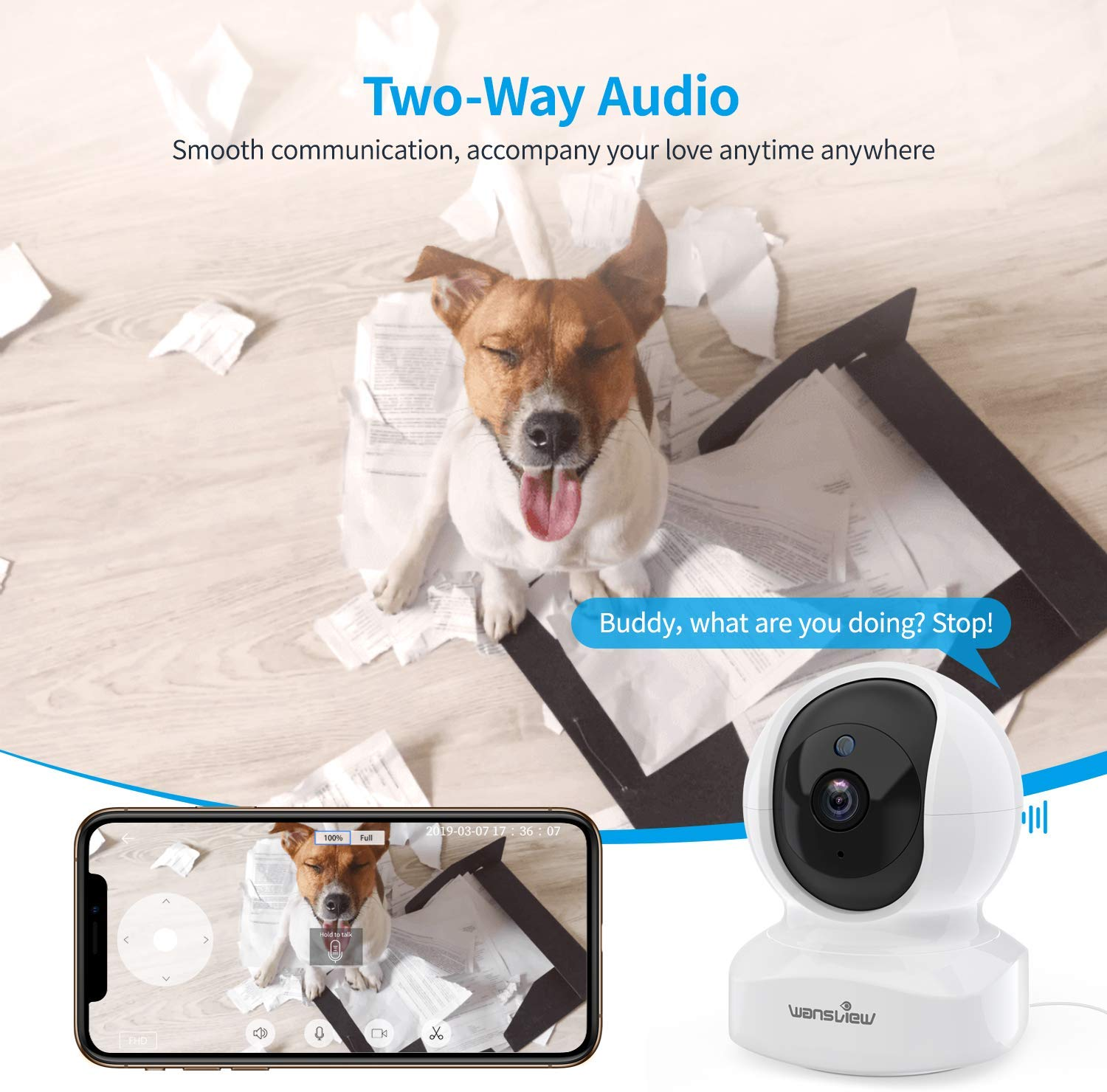 Wansview 1080P FHD Dome Camera Q5