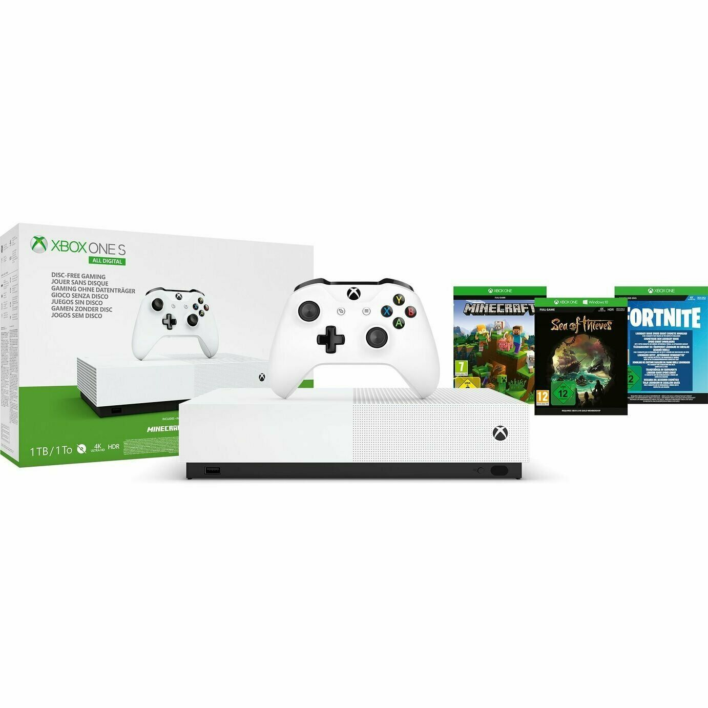 Xbox One S 1TB All Digital Edition V2 Console & Game Bundle