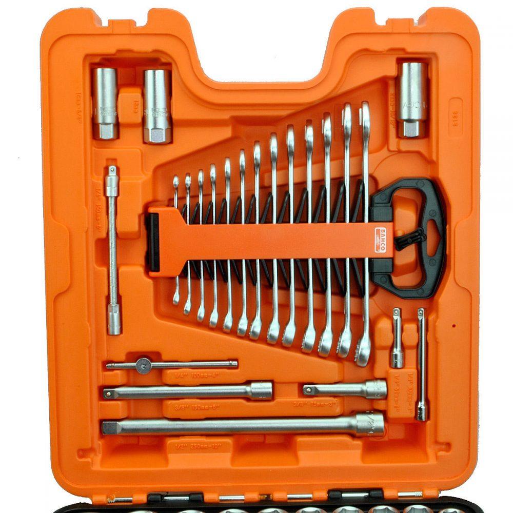 "Bahco 138 Piece 1/4"", 3/8"" & 1/2"" Metric Socket Set & Case."