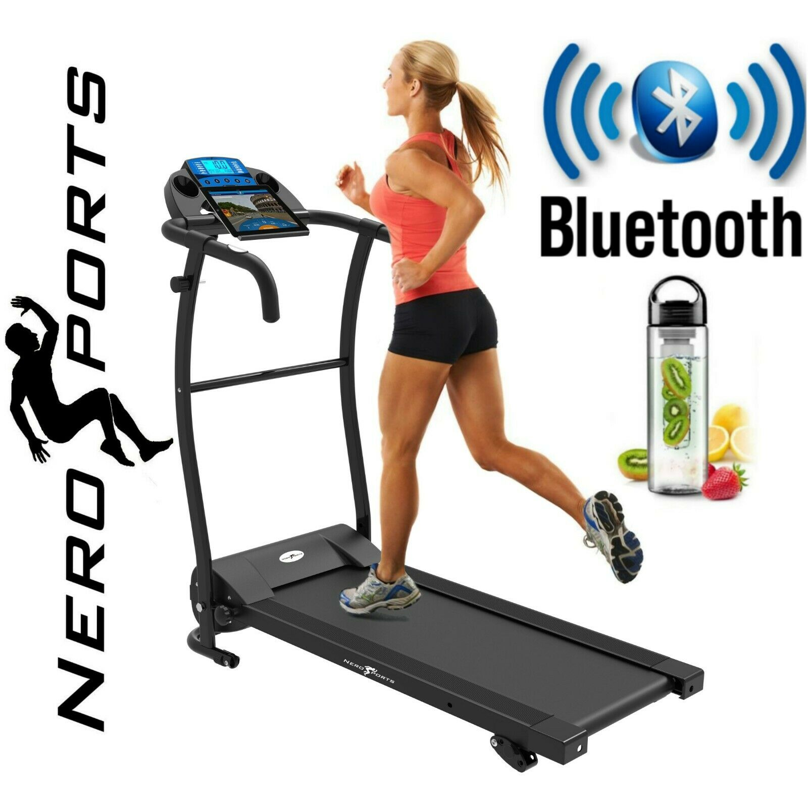 TREADMILL NERO PRO Electric Folding Running Machine w Bluetooth